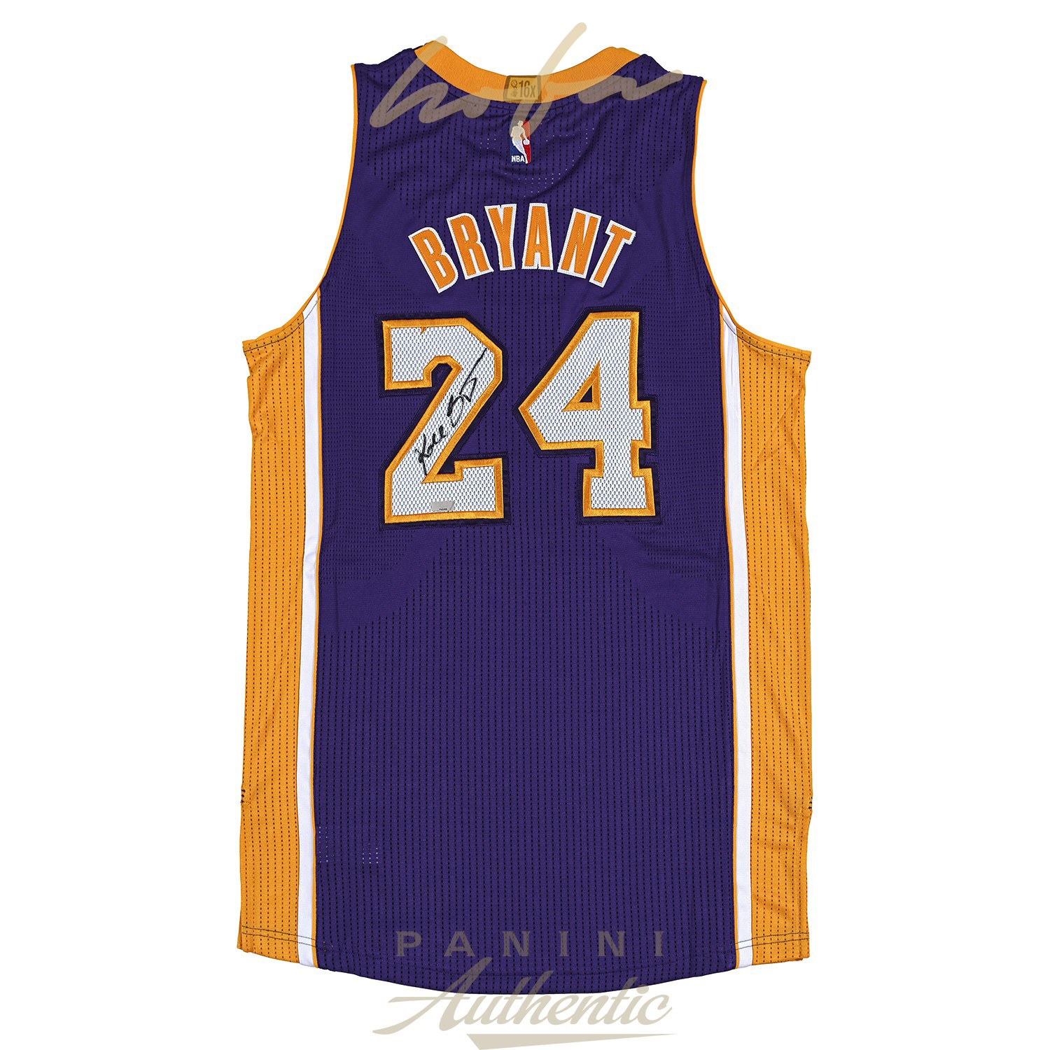 promo code ab14b fce83 KOBE BRYANT AUTOGRAPHED ADIDAS PURPLE AUTHENTIC LAKERS JERSEY