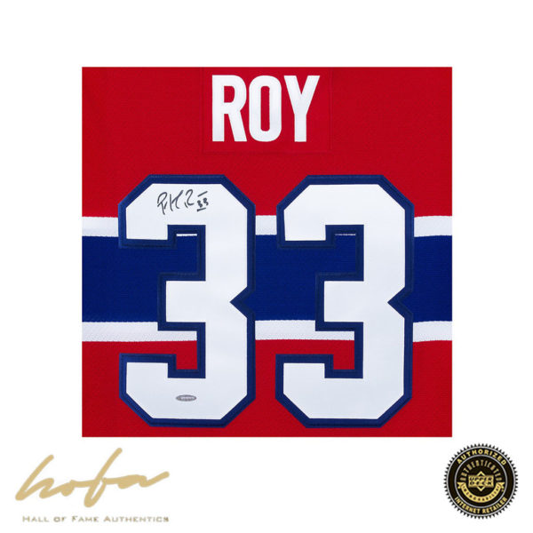 innovative design 8759d 20e95 PATRICK ROY SIGNED RED MONTREAL CANADIENS JERSEY CUP CENTENNIAL PATCH