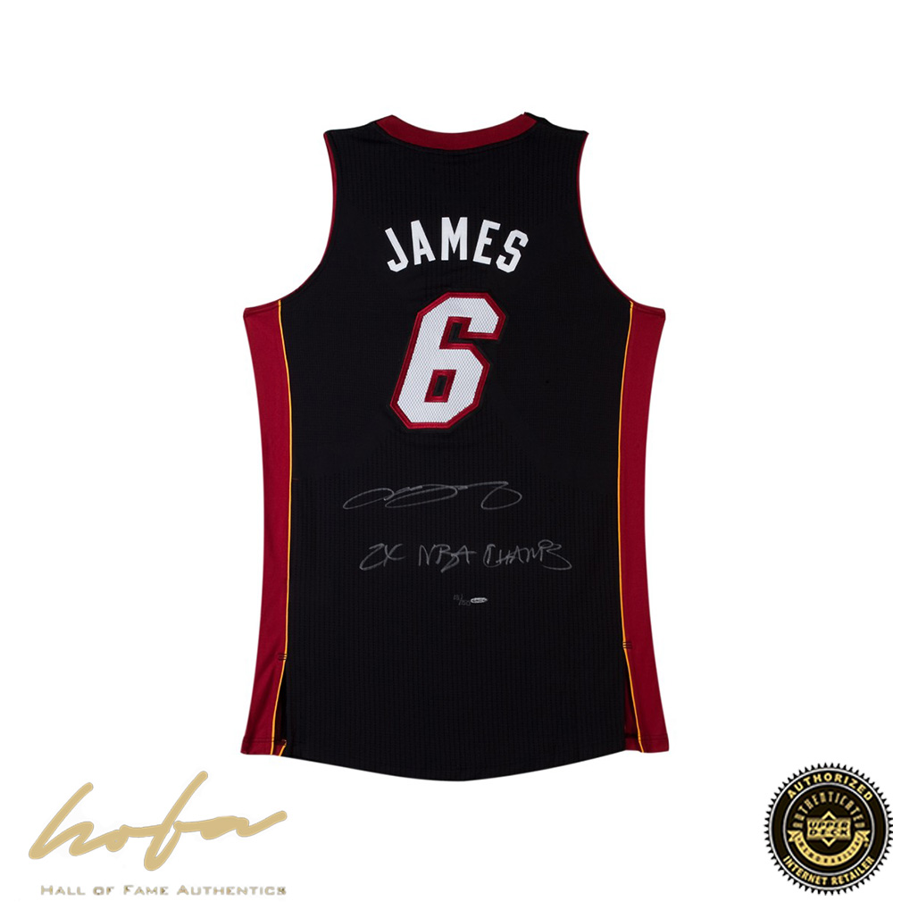 detailed pictures 10a82 085d3 LEBRON JAMES INSCRIBED