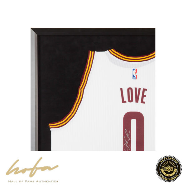 size 40 6f017 ce9ac KEVIN LOVE FRAMED CLEVELAND CAVALIERS SWINGMAN WHITE JERSEY