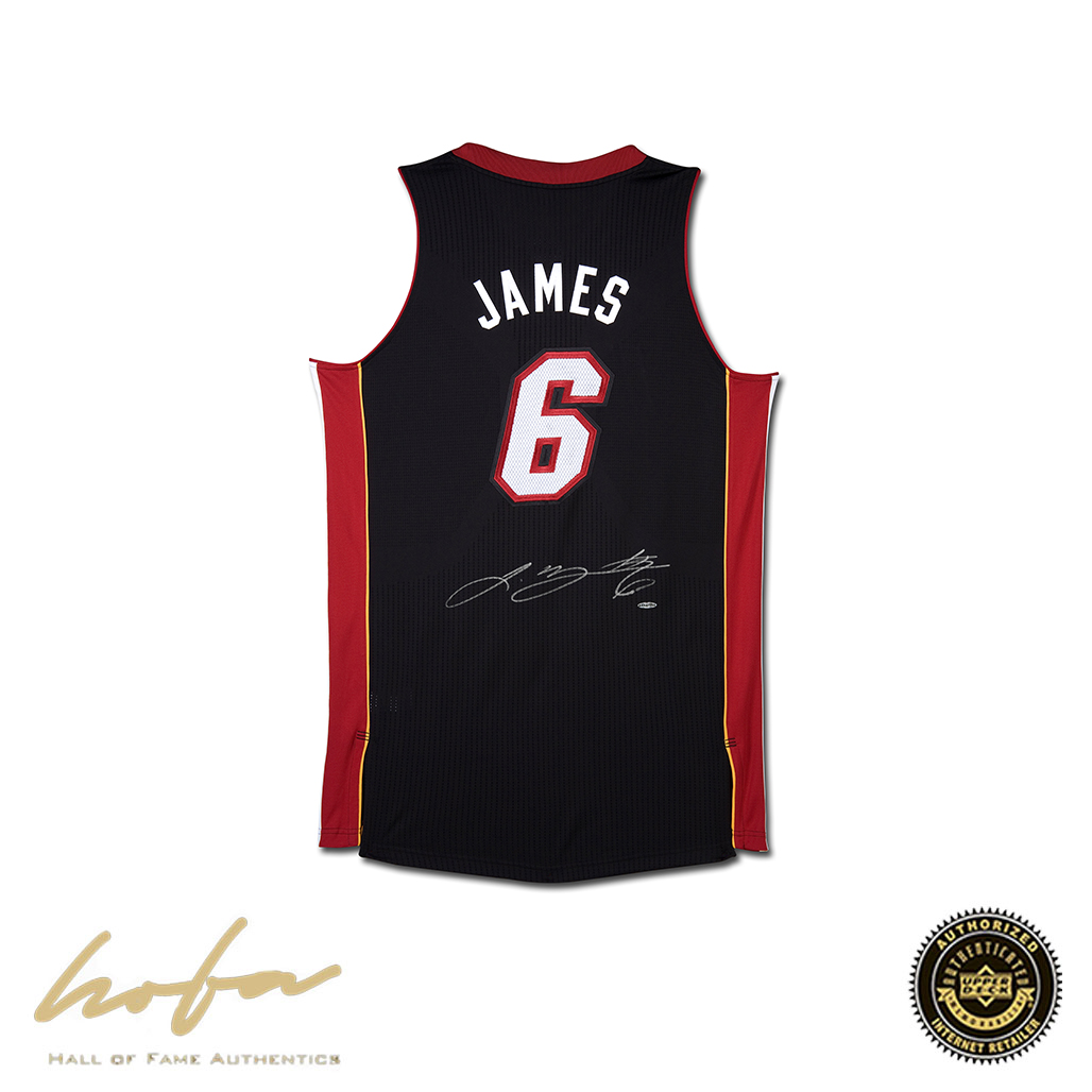 sports shoes a514f 6ca94 LEBRON JAMES HEAT ROAD BLACK JERSEY