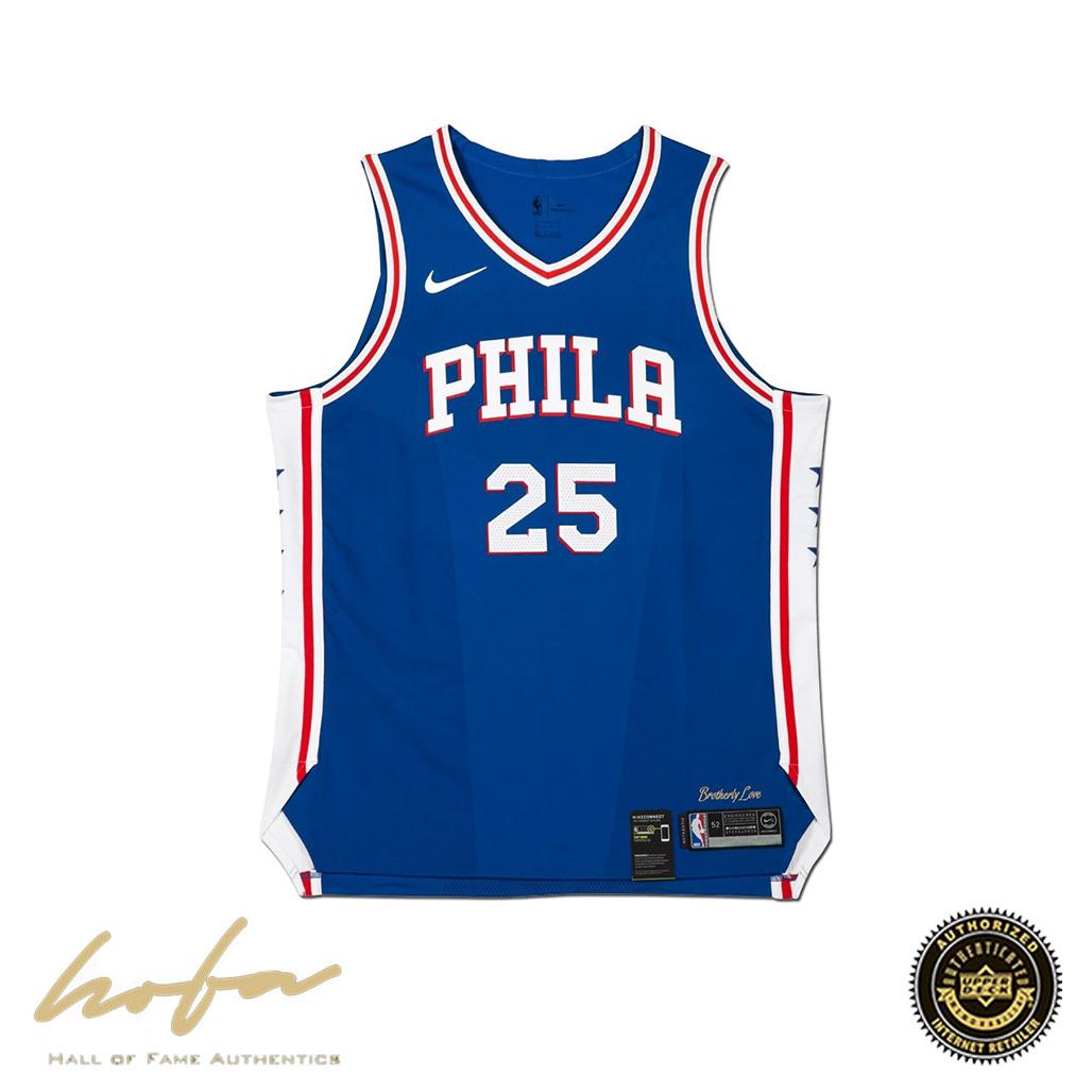 online store cc15c 029d5 BEN SIMMONS AUTOGRAPHED PHILADELPHIA 76ERS BLUE AUTHENTIC NIKE JERSEY