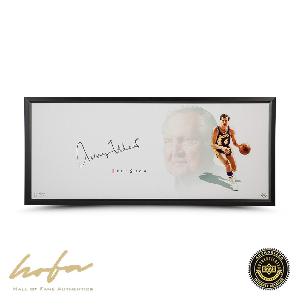 the best attitude 3d0ad a3b80 JERRY WEST AUTOGRAPHED THE SHOW