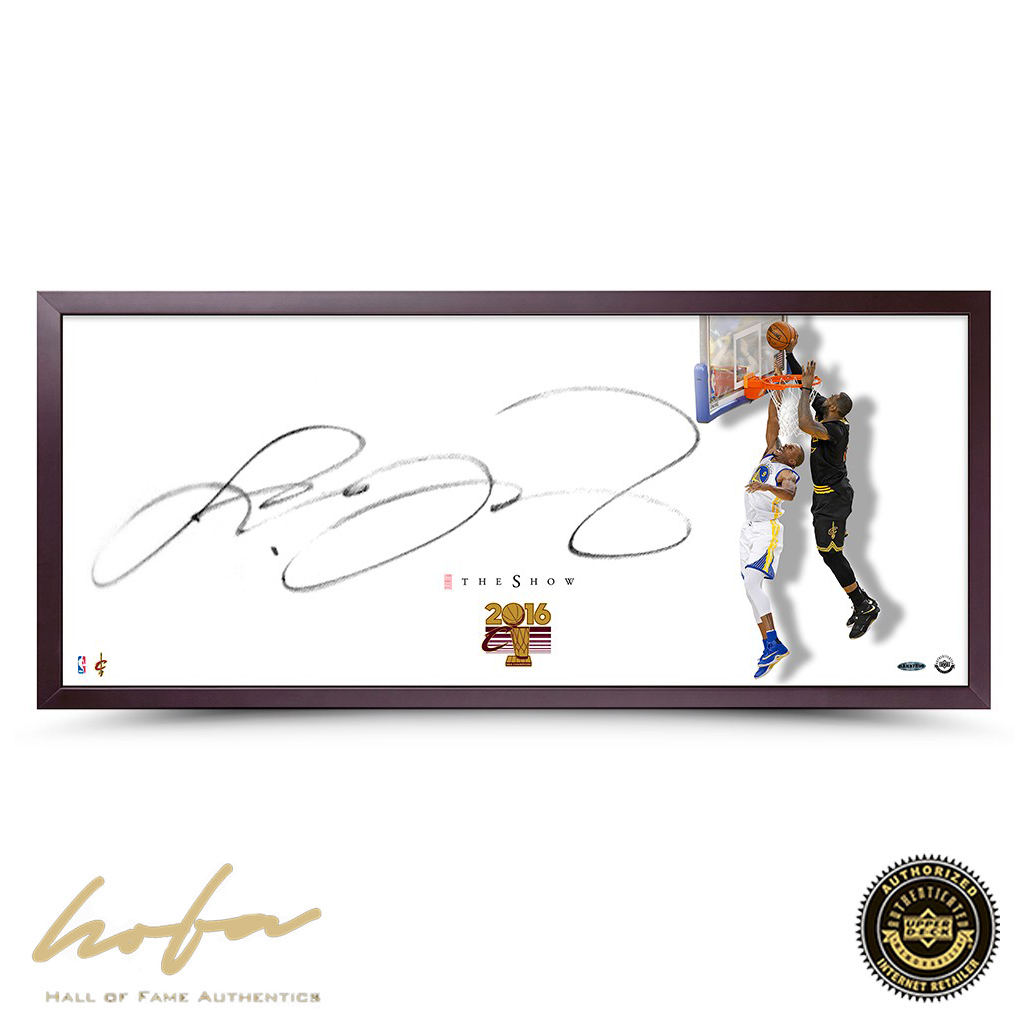 info for ca436 54e00 LEBRON JAMES AUTOGRAPHED THE SHOW