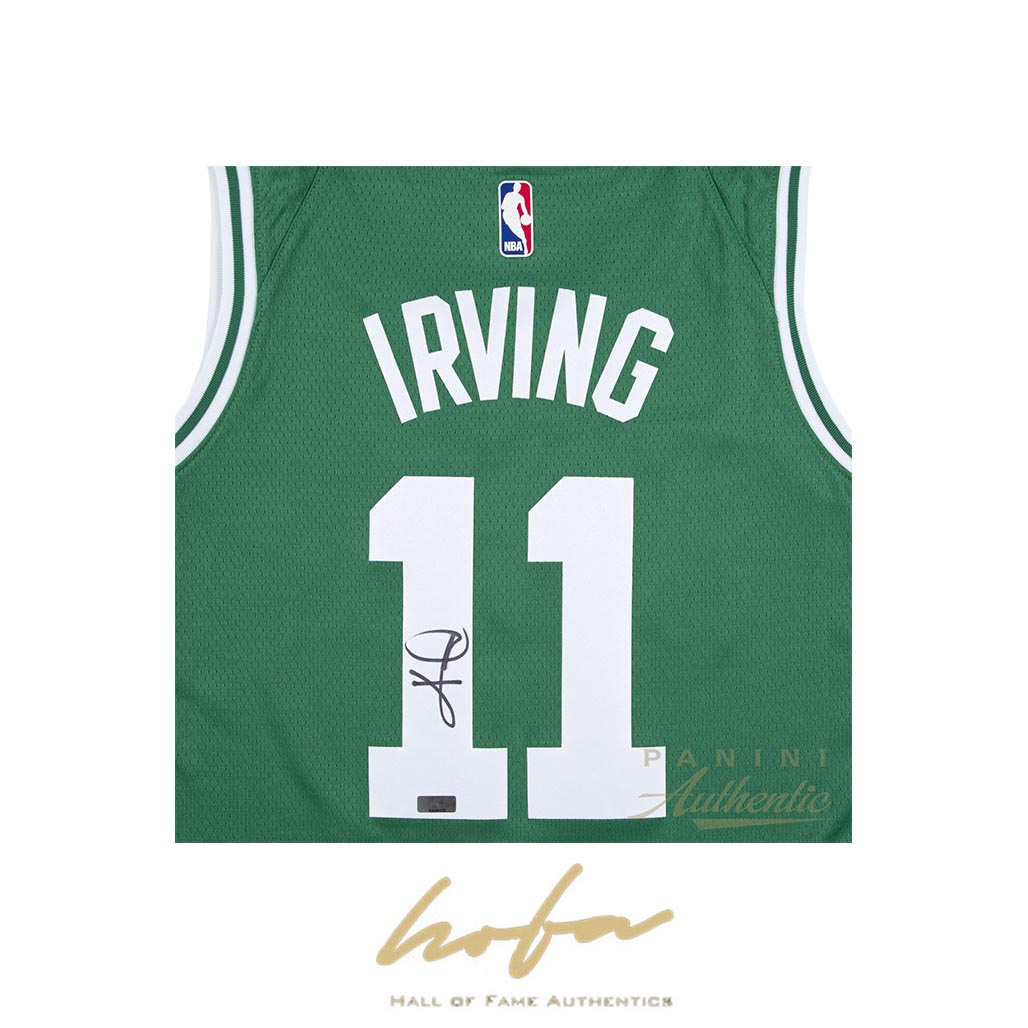 brand new 4bc52 79920 KYRIE IRVING AUTOGRAPHED GREEN NIKE BOSTON CELTICS SWINGMAN JERSEY