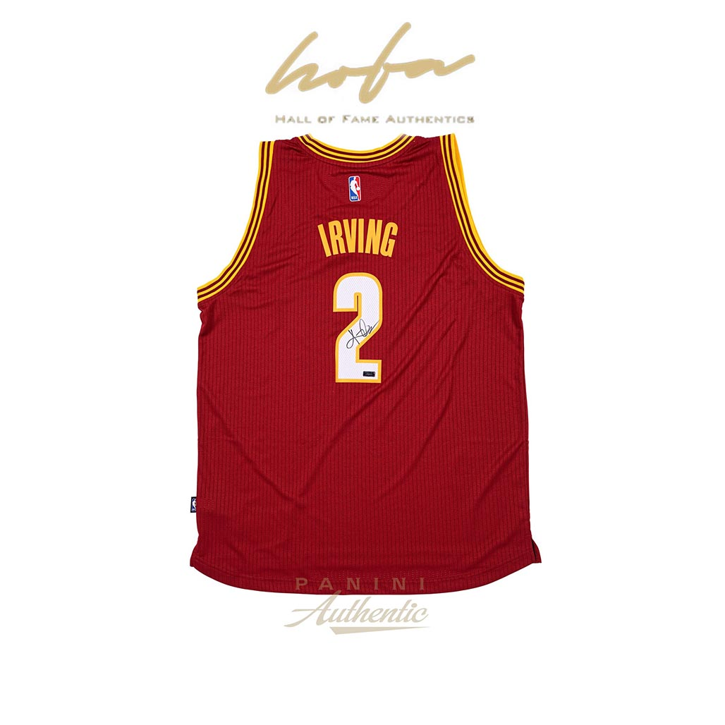 new product 53907 ba3ba KYRIE IRVING AUTOGRAPHED RED ALTERNATE SWINGMAN JERSEY