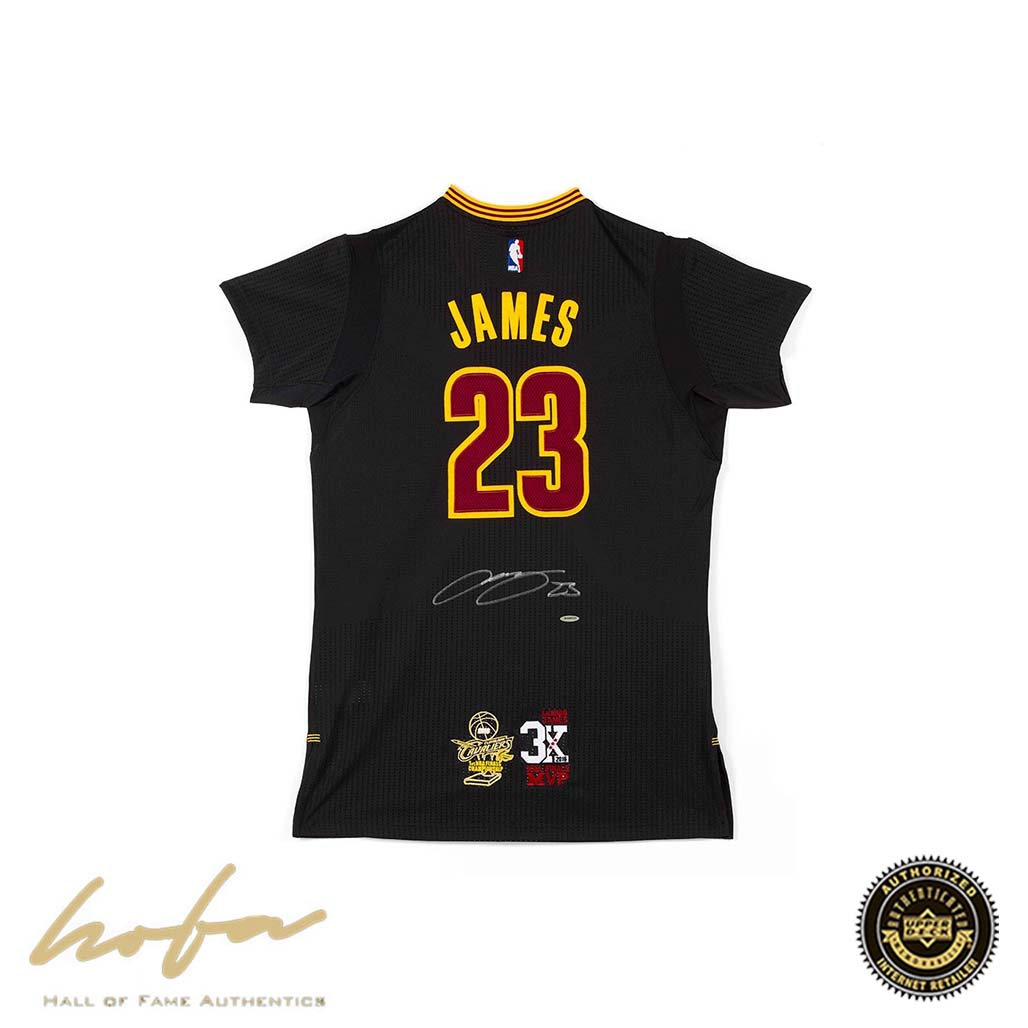 the best attitude a3302 5702c LEBRON JAMES CLEVELAND CAVALIERS BLACK JERSEY WITH 3X FINALS MVP &  CHAMPIONSHIP PATCHES