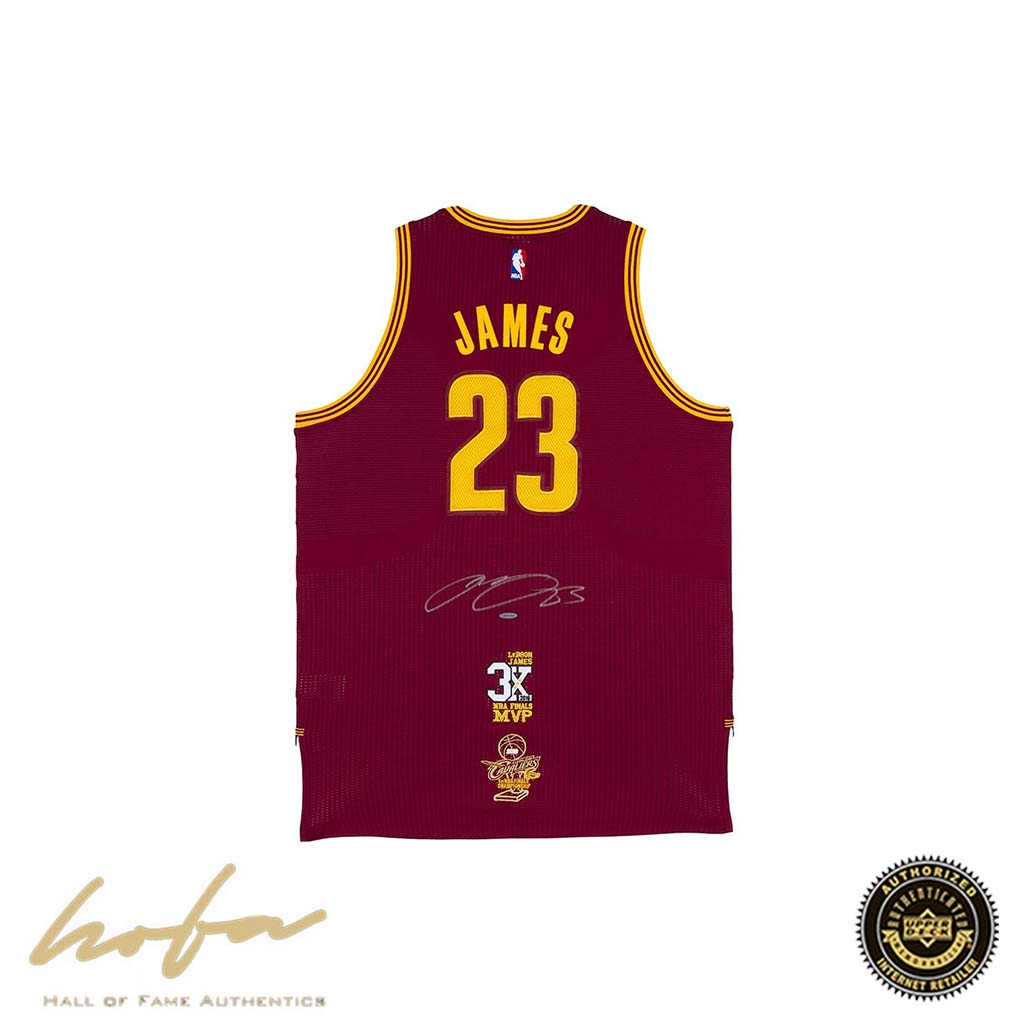 quality design c3cd7 c9e28 LEBRON JAMES CLEVELAND CAVALIERS MAROON JERSEY WITH 3X FINALS MVP &  CHAMPIONSHIP PATCHES