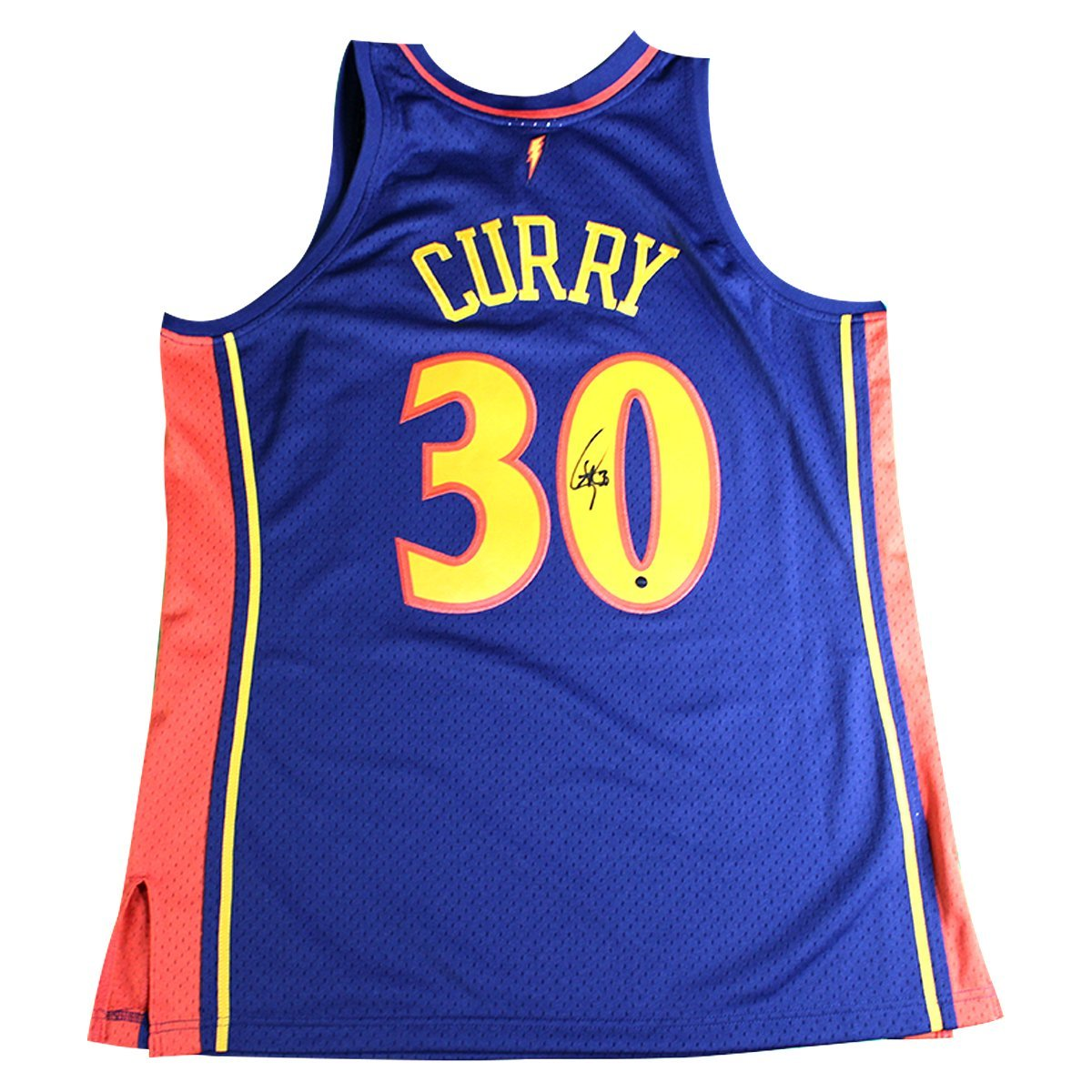 new style fc612 9dadd STEPHEN CURRY SIGNED MITCHELL AND NESS GOLDEN STATE WARRIORS NAVY 2009-10  ROOKIE SEASON SWINGMAN REPLICA JERSEY