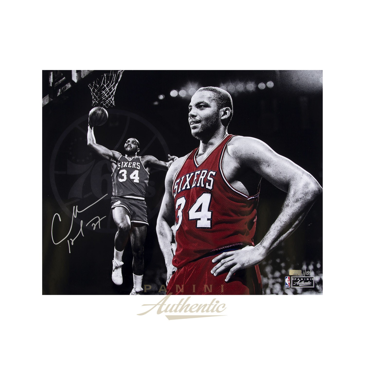 new arrival 14b09 5976a CHARLES BARKLEY AUTOGRAPHED 16x20