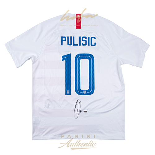 newest 350db 61352 CHRISTIAN PULISIC AUTOGRAPHED 2018 NIKE US MEN'S NATIONAL TEAM WHITE #10  Authentic JERSEY ~OPEN EDITION ITEM~