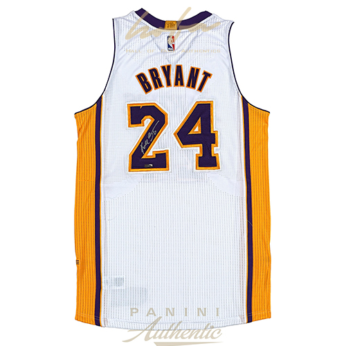 huge discount 521e5 d666a KOBE BRYANT AUTOGRAPHED ADIDAS WHITE AUTHENTIC LAKERS JERSEY ~OPEN EDITION  ITEM~