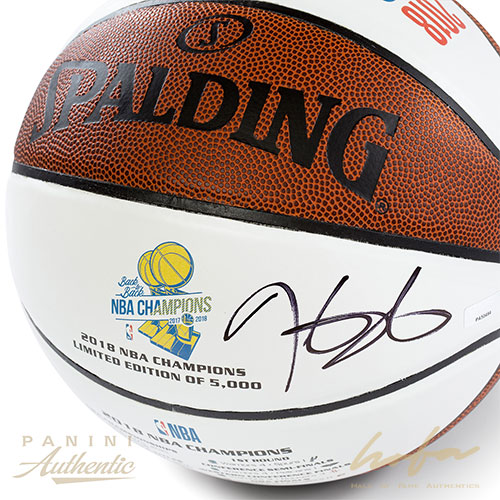quality design 72d32 03bf6 KEVIN DURANT AUTOGRAPHED WHITE PANEL 2018 GSW CHAMPIONSHIP COMMEMORATIVE  BASKETBALL ~OPEN EDITION ITEM~