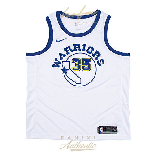uk availability c1470 8b03d KEVIN DURANT AUTOGRAPHED NIKE GOLDEN STATE WARRIORS HARDWOOD CLASSICS WHITE  SWINGMAN JERSEY ~OPEN EDITION~
