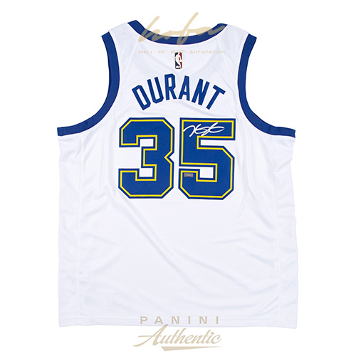 uk availability 2b868 32bb7 KEVIN DURANT AUTOGRAPHED NIKE GOLDEN STATE WARRIORS HARDWOOD CLASSICS WHITE  SWINGMAN JERSEY ~OPEN EDITION~