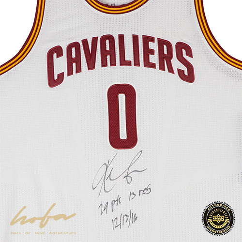 new product 2afcd 4b59d KEVIN LOVE SIGNED & INSCRIBED CLEVELAND CAVALIERS ADIDAS AUTH. WHITE  GAME-WORN JERSEY-L1
