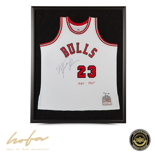 the best attitude ad069 6a788 MICHAEL JORDAN MITCHELL & NESS WHITE ROOKIE JERSEY EMBROIDERED