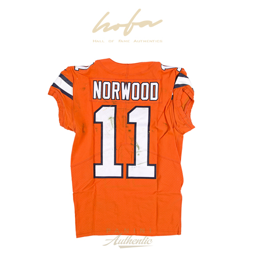 JORDAN NORWOOD GAME WORN DENVER BRONCOS JERSEY & PANT SET FROM 10/13/2016 VS THE SAN DIEGO CHARGERS ~LIMITED EDITION 1/1~
