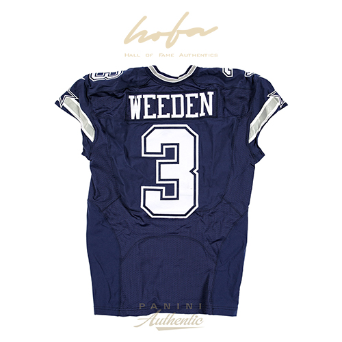 BRANDON WEEDEN GAME WORN DALLAS COWBOYS JERSEY FROM 10/4/2015 VS THE NEW ORLEANS SAINTS ~LIMITED EDITION 1/1~