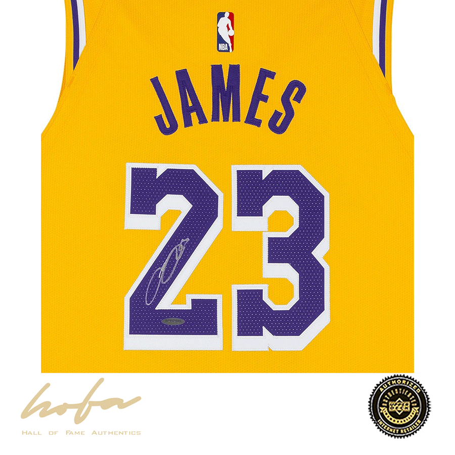 LEBRON JAMES LAKERS NIKE AUTHENTIC GOLD