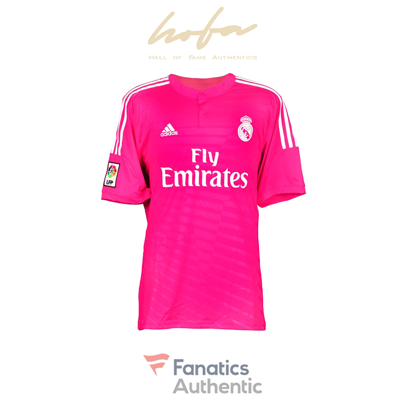 James Rodriguez Real Madrid Autographed Pink Jersey